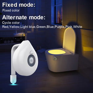 LED Toilet Seat Night Light Motion Sensor WC Light 8 Colors