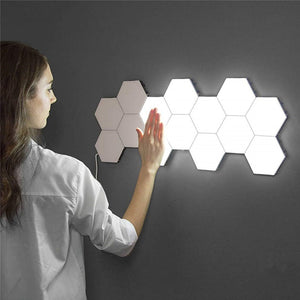 Quantum lamp led Night Light moon Honeycomb