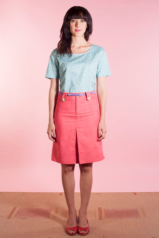 Iris top mint/Dylan skirt red
