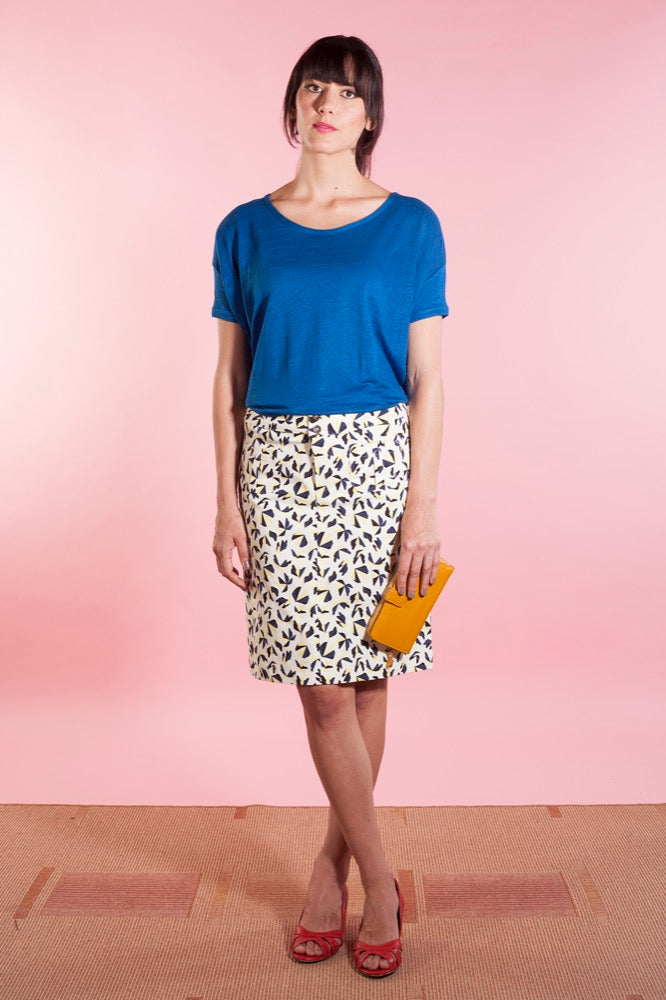 Slouch tee bluefin/Katy skirt shapes