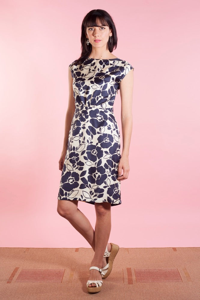 Judy dress silk ink floral