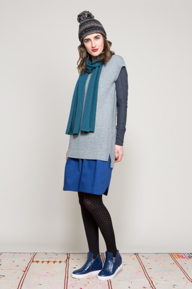 Textured Gillet / Lola top / Gemma skirt / Textured scarf
