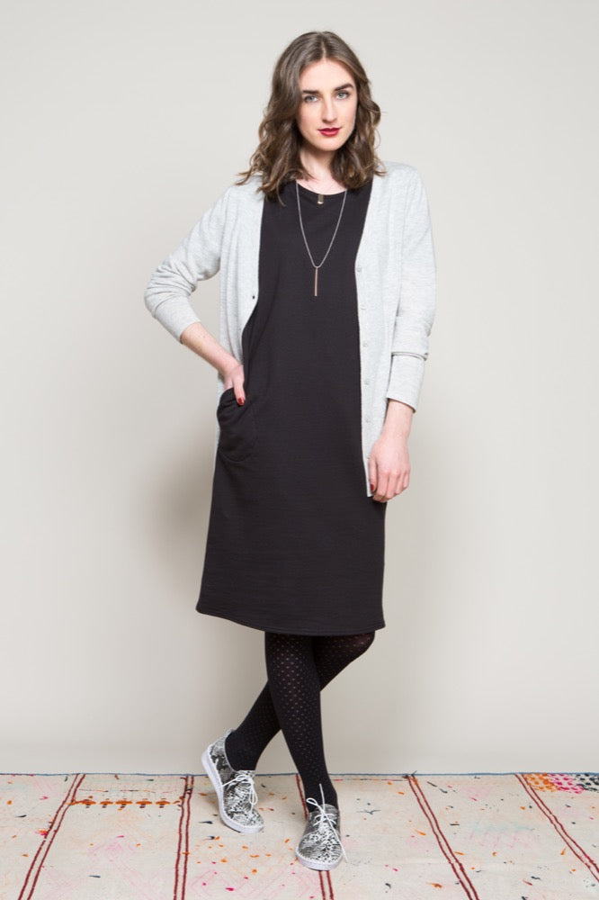 Vee neck cardi / Slouch tee dress