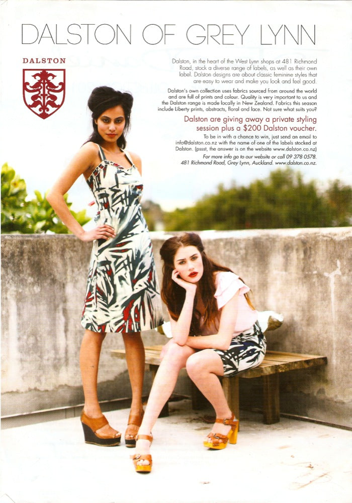 Suzy sundress, Farrah top, Sienna skirt // <br> <b>Verve magazine</b>