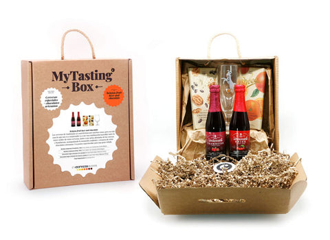 PACK GOURMET DULCE: Belgian fruit beer and chocolate