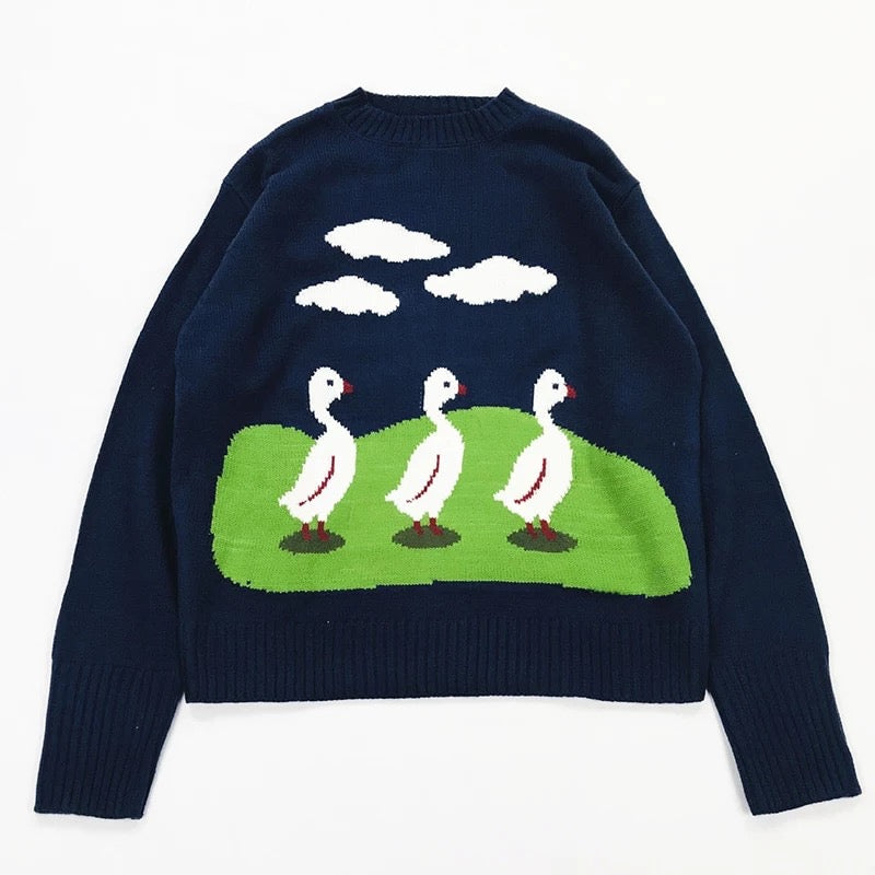 Three Little Ducks Sweater