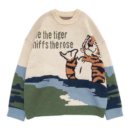 The Tiger And The Rose Sweater