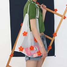 Load image into Gallery viewer, Flower Organza Tote
