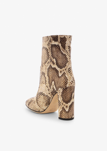 Python Pull-On Ankle Boot, Seppia