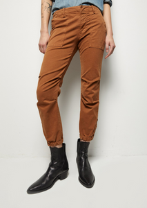 Cropped French Military Pants, Whiskey