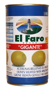 El Faro - 'Gigante' olives with Anchovies 150g