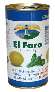 El Faro: Green Manzanilla Olives With Jalapeño Pepper - 350g