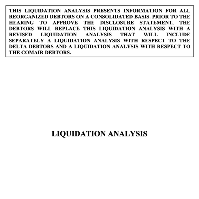 Interview Question: Chapter 7 Liquidation Analysis (Brief Case Study)