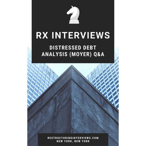Distressed Debt Analysis Moyer Questions and Answers