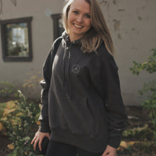 Load image into Gallery viewer, Pure Yoga Heavy Unisex Hoodie - Dark Grey
