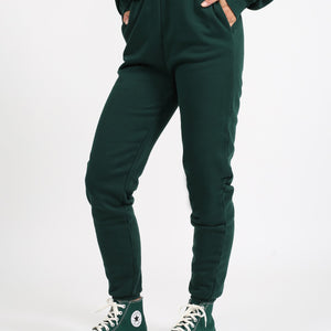 Brunette The Label - Best Friend High Rise Jogger - Evergreen