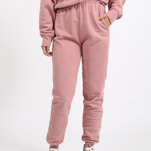 Brunette The Label - Best Friend High Rise Jogger - Vintage Rose