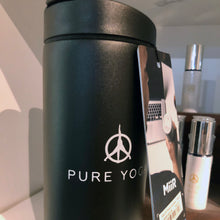 Load image into Gallery viewer, Pure Yoga Travel Tumbler Tall -Black