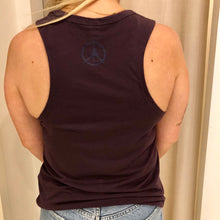 Load image into Gallery viewer, Pure Yoga Block Print Front Tank - Women's - Eggplant