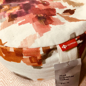Half Moon Yoga - Mod Meditation Cushion - Limited Edition Floral