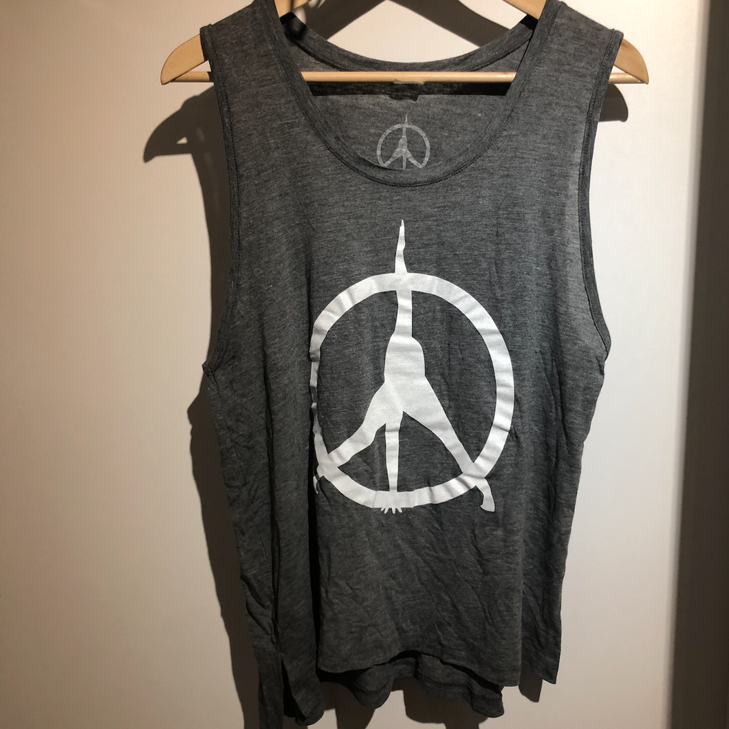 Pure Yoga Tank - Women (Large Logo) - Grey