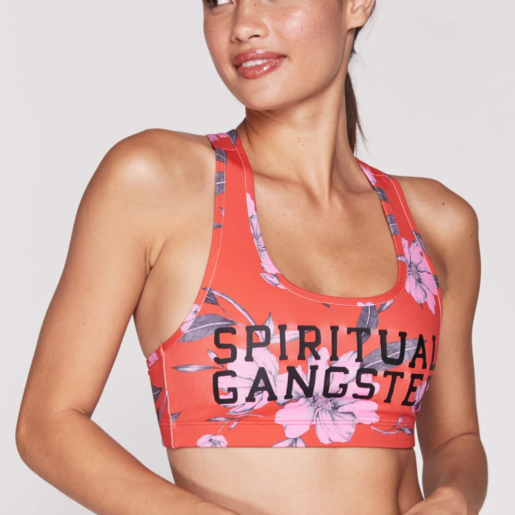 Spiritual Gangster - Floral Warrior Athletic Bra