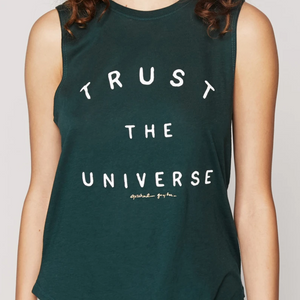 Spiritual Gangster - Trust the Universe Muscle Tank-Jade