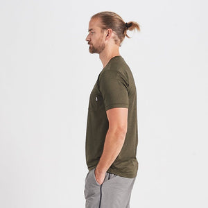 Vuori Mens Tradewind Performance Tee Evergreen Heather
