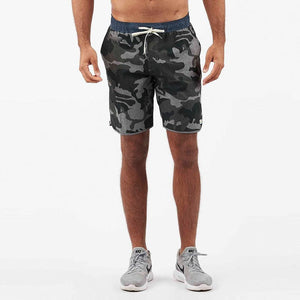 Vuori Mens Banks Shorts  - Grey Camo