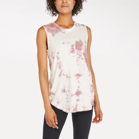 Alternative Apparel - Womens Tie Dye Loose Tank - Whiskey Rose