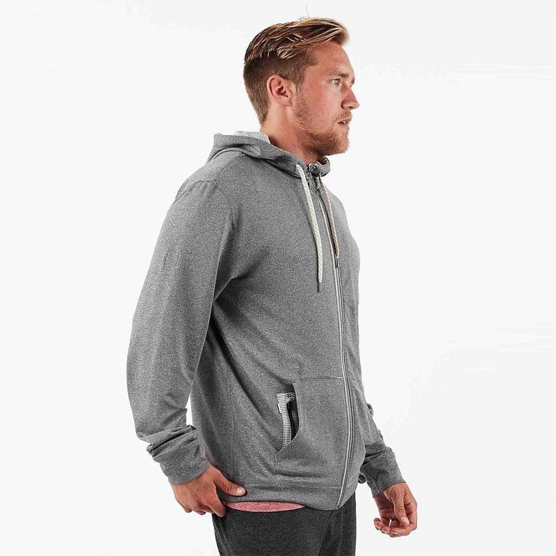 Vuori Mens Movement Hoodie Heather Grey