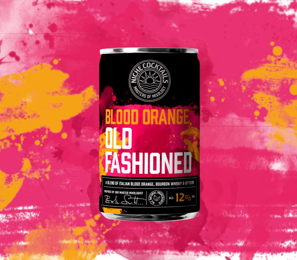 Blood Orange Old Fashioned Canned Cocktail