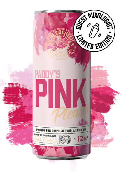 Niche Cocktails Paddys Pink Pleaser Limited Edition