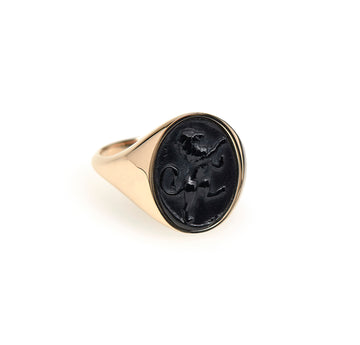 LION INTAGLIO SIGNET RING