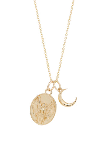 Moon Zodiac Sign Charm Necklace