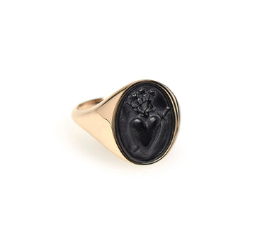 SACRED HEART INTAGLIO SIGNET RING