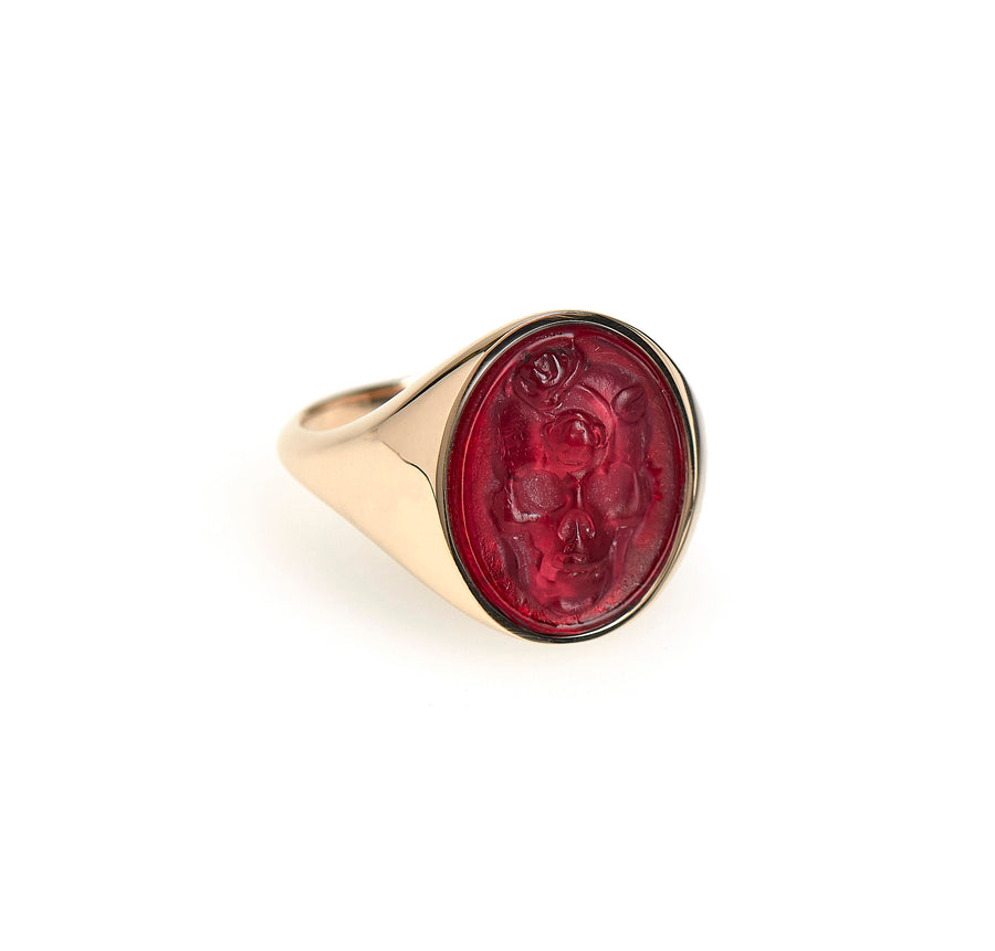 ETERNAL SKULL INTAGLIO SIGNET RING