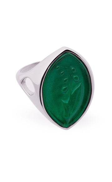 Lily of the Valley Intaglio Signet Ring