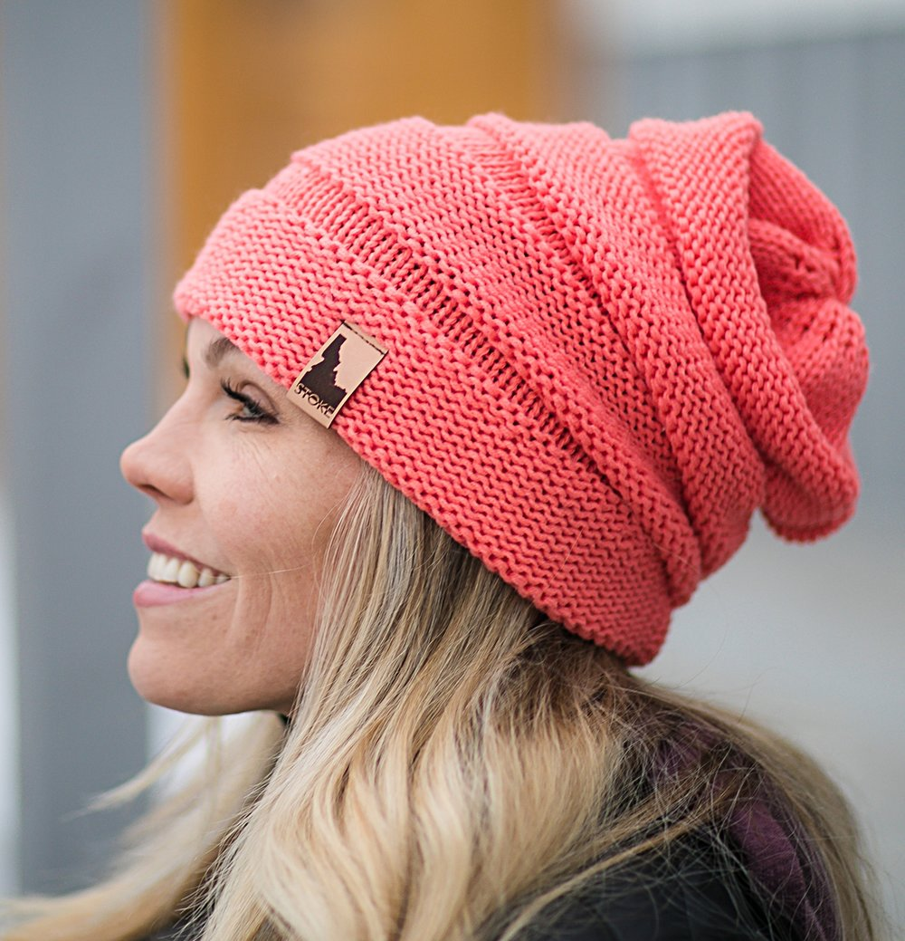 Scrunch Beanie with Idaho Stoke