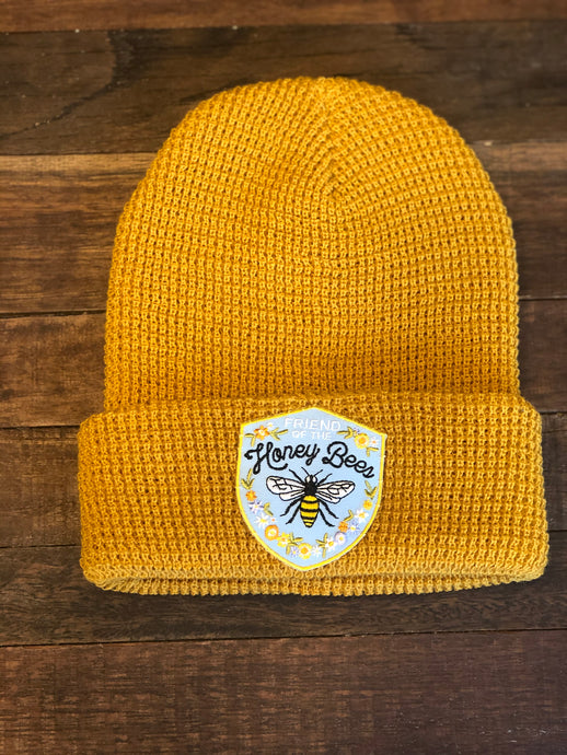 Friends of the Honey Bees Waffle Knit Beanie