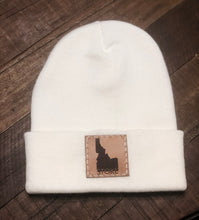 Load image into Gallery viewer, Idaho Stoke Leather Patch Beanie