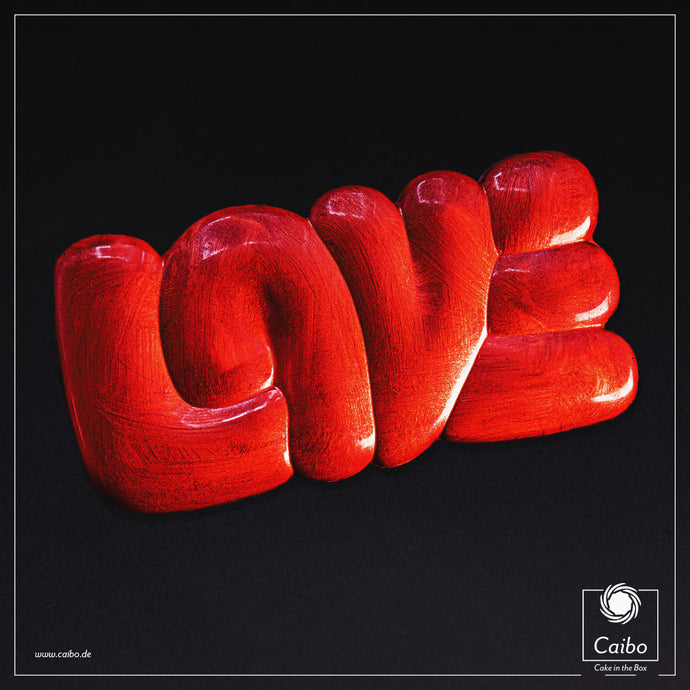 Chocolat d'art - Love Red