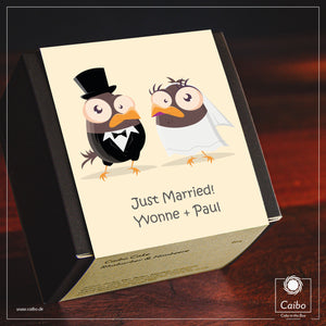 "Kuchen-Geschenkbox ""Just Married"""