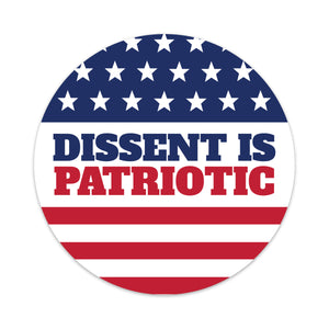 dissent is patriotic car magnet
