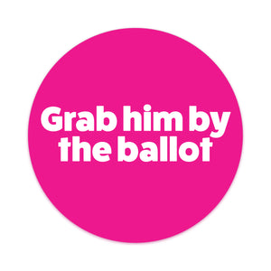GRAB HIM BY THE BALLOT Car Magnets