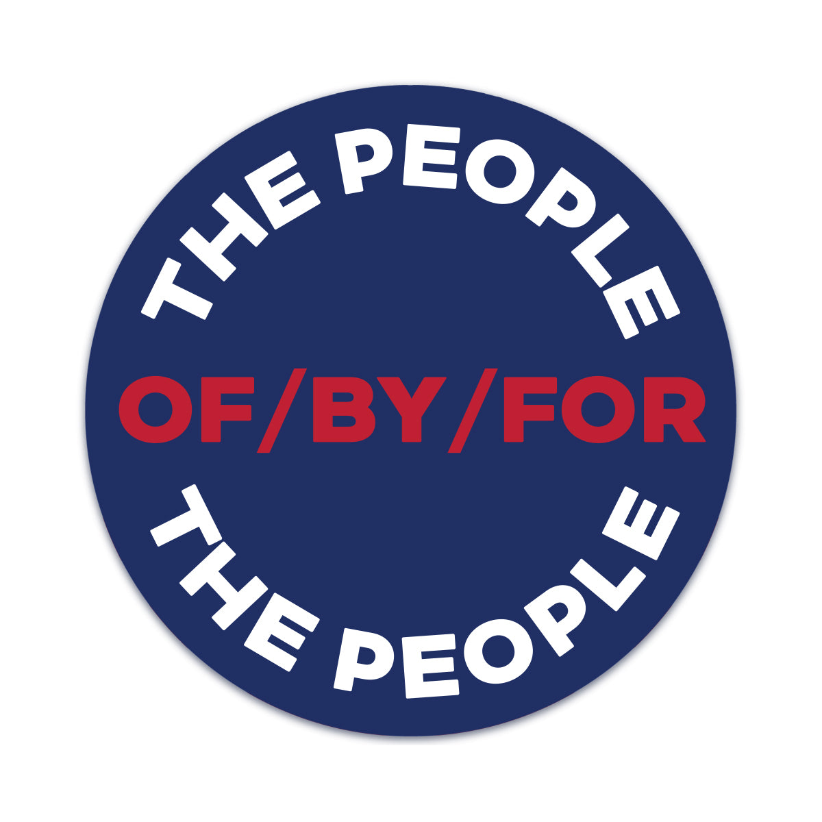 of by for the people car magnet