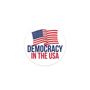 democracy in the usa decal sticker