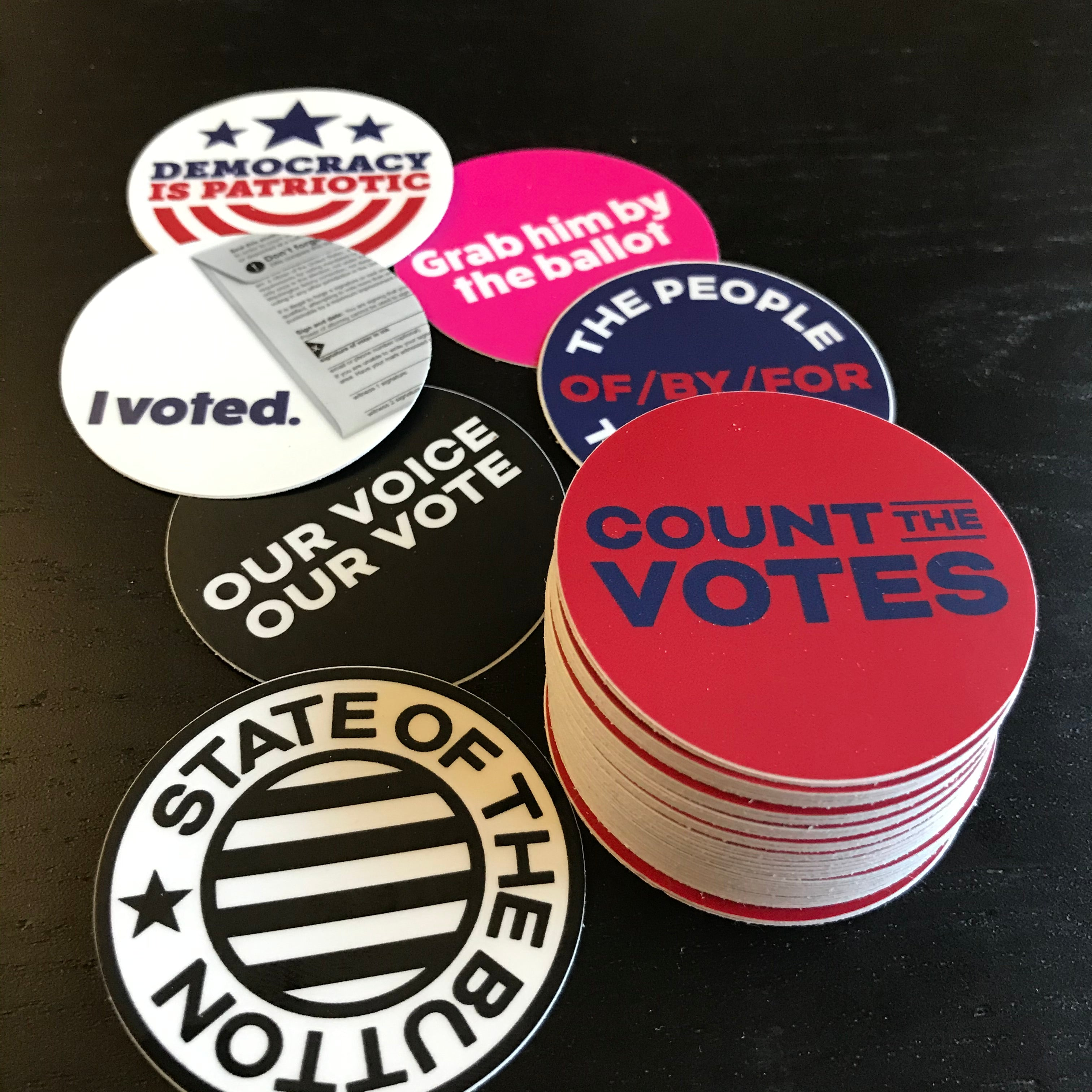 COUNT THE VOTES Stickers