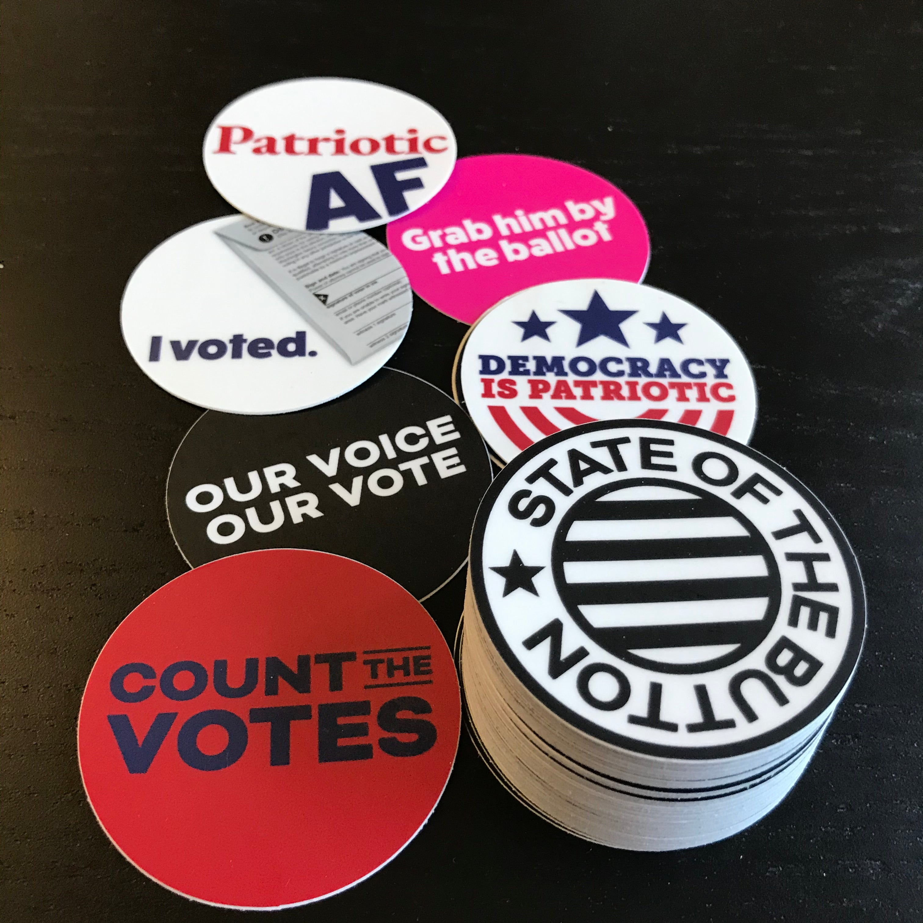 STATE OF THE BUTTON Brand Stickers