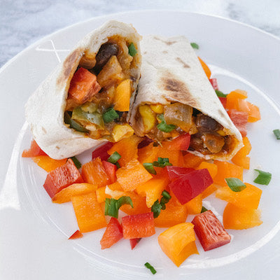 Southwest Veggie Burritos
